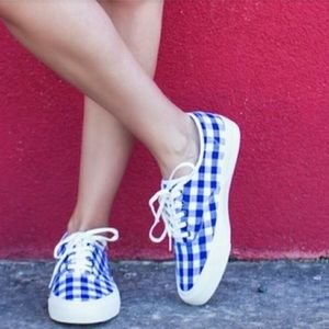 J. Crew SeaVees LEGEND  Gingham Tennis Shoes. 7.5